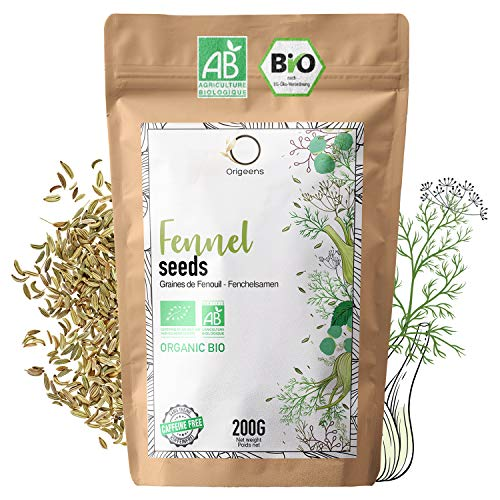 SEMILLAS DE HINOJO ECOLÓGICAS 200G | Te de hinojo para lactancia con bebé, digestiva | HINOJO INFUSION ecológica para té a granel
