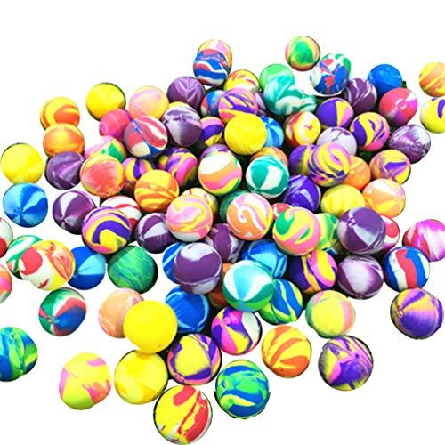 STOBOK 100 stücke federbälle Mini Gummi springenden Kugel Bunte hohe springenden Kugeln Halloween Party Supplies Kinder spielzeit Trick oder leckerei beutelfüller