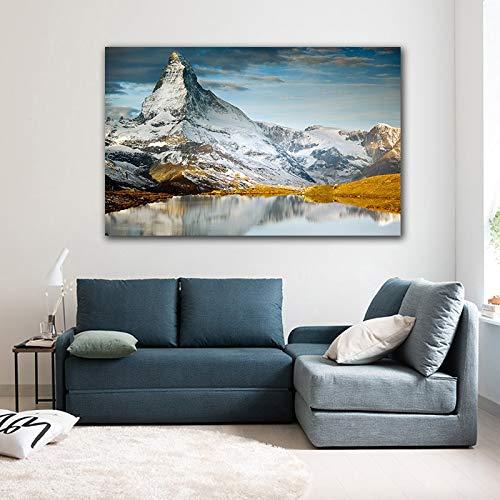 ganlanshu Leinwanddrucke Landschaftsmalerei modernes onhomewall Kunstbild60x90cmRahmenlose Malerei