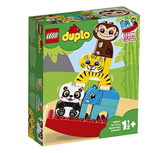LEGO DuploMyFirst IMieiPrimiAnimaliEquilibristi, Set di Mattoncini Giocattolo per Bambini in età Prescolare 1,5 Anni, 10884