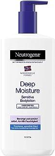 Neutrogena Deep Moisture Bodylotion Sensitive, Noorse formule, parfumvrije bodylotion, droge en gevoelige huid, 400 ml