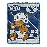 NORTHWEST NCAA BYU Cougars Woven Jacquard Tapestry Throw Blanket, 36' x 46', Fullback/Half Court