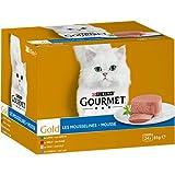 GOURMET Gold - Les Mousselines : Lapin, Boeuf, Veau, Agneau - 24x85g - Lot de 4