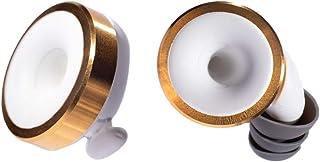 Knops - Protección para los oídos con 4 filtros diferentes - Dorado y blanco