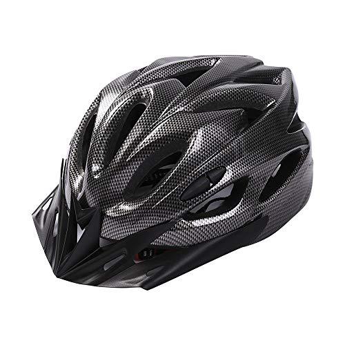 大人用自転車ヘルメットユニセックスロードマウンテンバイク自転車用ヘルメット調整可能なサイズ安全乗馬ヘルメット、特別な自転車用ヘルメットアクセサリー (ブラック, ワンサイズ)