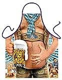 Bayern Grillschürze Oktoberfest Bierbauch Wiesn Schürze Küchenschürze geil bedruckt Geschenk Set mit Urkunde