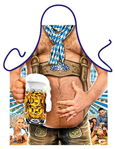 Geile-Fun-T-Shirts Bayern Grillschürze Oktoberfest Bierbauch Wiesn Schürze Küchenschürze geil Bedruckt Geschenk Set mit Urkunde