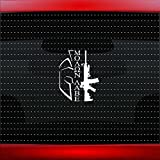 Noizy Graphics Molon Labe #10 Gun Assault Rifle Spartan NRA 2nd Amendment Rights Family Car Sticker Truck Window Vinyl Decal Color: White