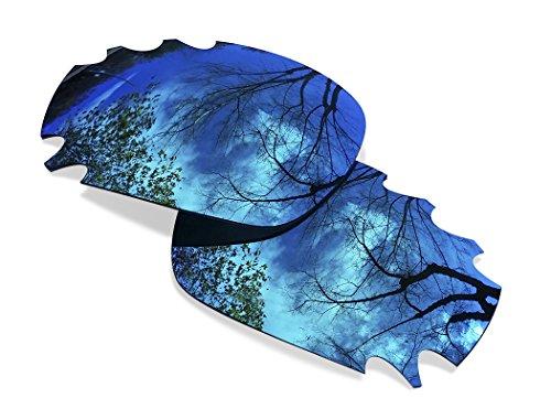 sunglasses restorer Kompatibel Ersatzgläser für Oakley Racing Jacket Vented, Polarisierte Ice Blue Linsen