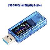 Innovateking-EU USB 3.0 Tester Multímetro 3.7-30V 0-4A USB Voltage Tester USB Digital Corriente y Voltaje Tester Medidor Voltímetro Amperímetro IPS Color Display Capacidad Power Charger Detector AT34