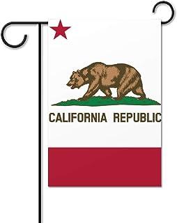 ECONG State of California Jardín Bandera Logotipo Colorido Impresión a Doble Cara Decoración Patio Casa Casa Villa Granja Al Aire Libre Regalo Exterior