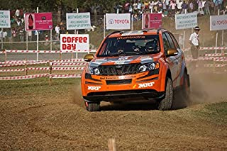 Home Comforts Peel-n-Stick Poster of Car Chikmagalur Dirt Mahindra Rally Sports India Vivid Imagery Poster 24 x 16 Adhesive Sticker Poster Print