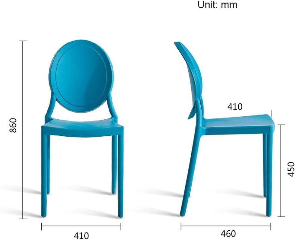 PRIDE S Chaise de Salle à Manger Simple avec Dossier créatif Bleu