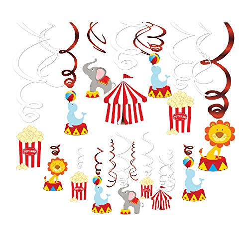 Carnival Party Swirl Decorations (15 Pieces)