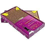 PEEKAB Cat Scratcher Cardboard Cat Wide Scratching Pad Reversible Corrugate Cat Scratch Bad with Box Catnip Included