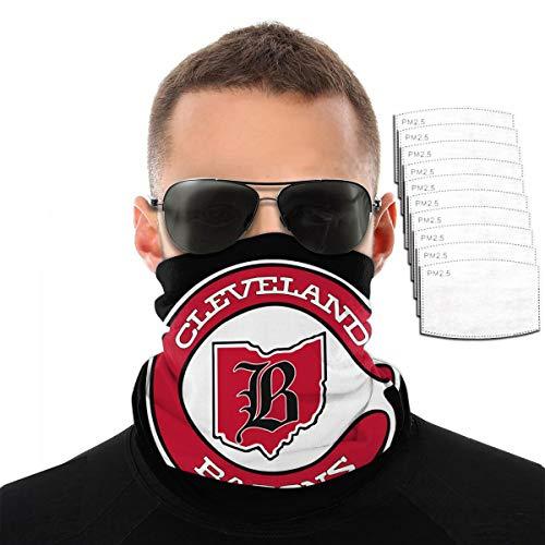 Defunct - Cleveland Barons Hockey Face Mask Bandana Neck Gaiter Tube Headwear Bandana, Seamless Rave Half Balaclava