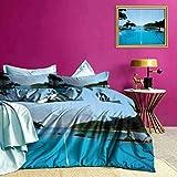 Tagesdecken Bettdecke Pool Tropical Island Moderne einfache Steppdecke Lassen Sie im Schlaf Schmelzen