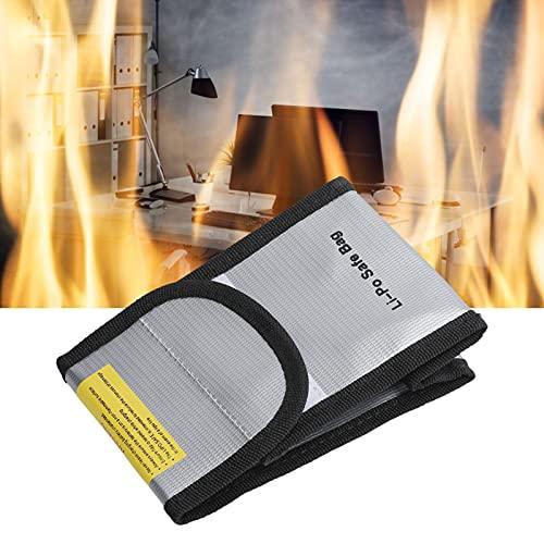 Bolsa para batería, ignífuga Bolsa para Archivos de Documentos a Prueba de Fuego para certificados de pólizas de Seguro para Efectivo