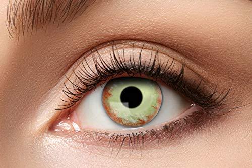 Eyecatcher 84115141.981 - Farbige Kontaktlinsen, 1 Paar, für 12 Monate, Mehrfarbig, Karneval, Fasching, Halloween