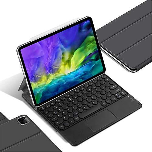 Toetsenbordbehuizing voor Ipad Pro 11 2020, met Touchpad Slim Folio Smart Stand Case Cover met verwijderbaar magnetisch draadloos toetsenbord Ondersteuning Potlood 2e generatie opladen