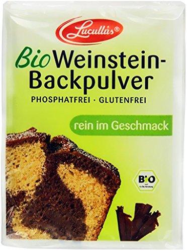 Lucullus Bio Weinstein Backpulver 3x18g