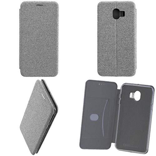 Preisvergleich Produktbild Commander Book Case Curve für Samsung J400 Galaxy J4 (2018) Suit Elegant Gray