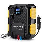 Kompressor,AUPERTO Digital Luftkompressor Auto Luftpumpe mit LED-Licht,DC 12V Zigarettenanzünder,10...