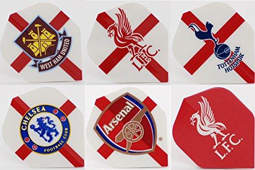 FOOTBALL Dart Flights–West Ham, Liverpool, Tottenham, Chelsea, Arsenal Dart Flights, West Ham
