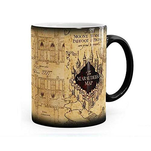 Gota VIP Hot taza magica bebida caliente taza de cambio de color taza de Harry Potter merodeadores mapa Mischief Managed Wine Tea Cup regalos creativos, Mapa