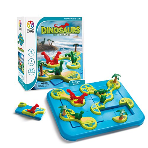 SmartGames Dinosaurs: Mystic Islands Board Game, a Fun, STEM Focused Prehistoric Brain Game and Puzzle Game for Ages 6 and Up