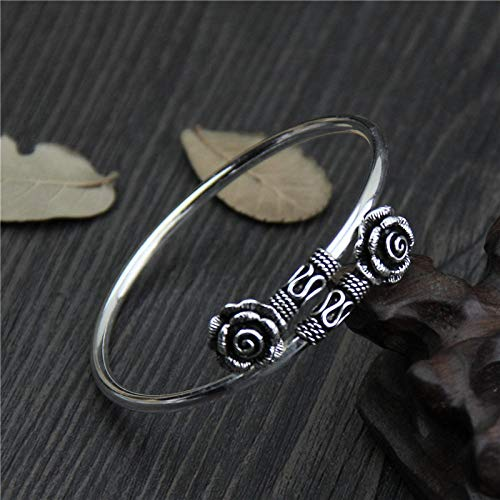 Angelazy armband van 925 sterling zilver, voor dames, modern, elegant, bloem, roze, verstelbaar