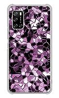 楽天モバイル Rakuten BIGs ハード ケース カバー EK837 テクニカルミラーパープル 素材クリア UV印刷