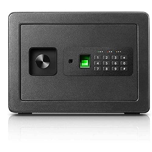 KJLY Cabinet Cassaforte Security Cash Box Cash Scatole per la casa, Eleganti Piccole Cassette di Sicurezza Impronte digitali Serrature per Uso Domestico casseforti