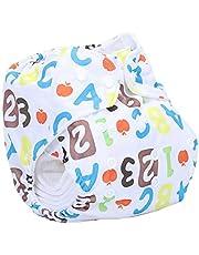 Letras numérica impresión leakproof transpirable bebé pañales de tela