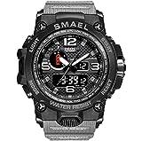 Edizione tattica Rugged Outdoor Smartwatch, Uomini Orologi Sportivi Analogico Digitale LED Elettronico Orologio Da Nuoto Impermeabile Calendario Multifunzionale Sveglia