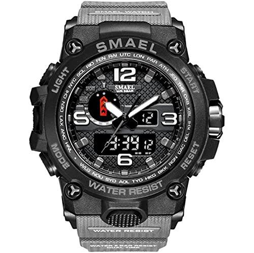 Reloj inteligente resistente al aire libre, reloj deportivo para hombre, analógico, digital, LED, electrónico, impermeable, reloj despertador con calendario multifuncional, reloj impermeable luminoso