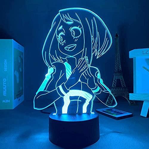 JYDNBGLS Anime led Nachtlampje Anime 16 Kleuren Remote Beste Verjaardag Kerst Anime Geschenken Anime Mijn Hero Academia…