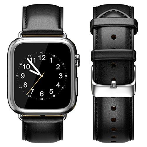 Compatible con Apple Watch Band 38 mm 40 mm Correa de Piel auténtica Hebilla de Metal Inoxidable Compatible con Apple Watch Series 4 Sport & Edition