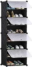 برج تخزين لتنظيم الاحذية، خزانة معيارية ذات ارفف لتوفير المساحة، مثالي للاحذية العادية والاحذية ذات الرقبة الطويلة والنعال...