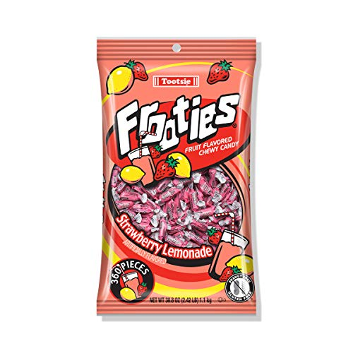 Strawberry Lemonade Frooties - Tootsie Roll Chewy Candy - 360 Piece Count, 38.8 oz Bag