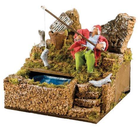 Pastore per Presepe in Movimento 17 cm x 17 cm Il Pescatore