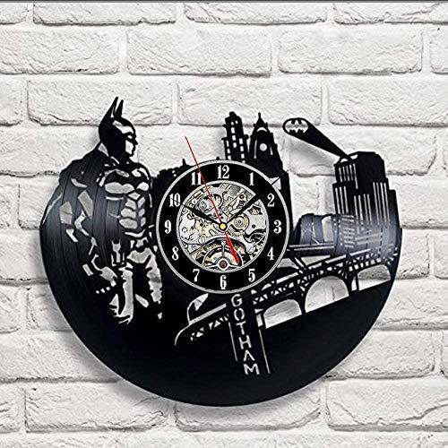 Reloj De Pared Reloj Reloj De Pared De Diseño De Discos De Vinilo - Decora Tu Hogar con El Arte De Superhéroes De DC Comics Hombre De30 Cm
