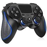 [2020 Neueste]Wireless Controller für PS4/PS4 Slim/PS4 Pro,RegeMoudal Controller für PS4 mit Double Vibration und Audio-Buchse,Anti-Rutsch-Griff und Touchpanel-Spielbrett