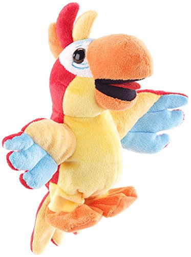 Playtastic Sprechendes Plüschtier: Sprechender Plüsch-Papagei mit Mikrofon, spricht nach und läuft, 22 cm (Sprechender Papagei Spielzeug)