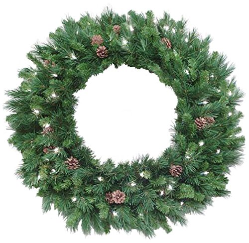 Vickerman 24' Cheyenne Pine Wreath with 50 Warm White LED Lights