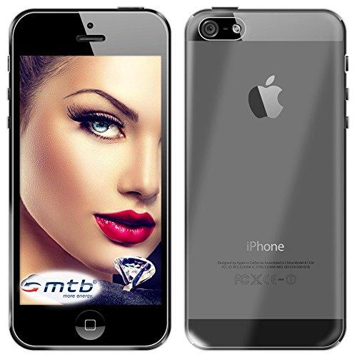 mtb More Energy Funda Clear & Slim para Apple iPhone 5 / 5S / SE (4.0'') - Transparente - Flexible - Delgada - Gel TPU Silicona Carcasa Suave Cascara