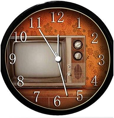 Glow in the Dark Wall Clock - Vintage TV