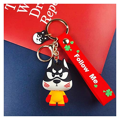 YSJSPOL Keychain Fashion Cartoon Husky car keychains accessories cute little dog gift key chian bag pendant doll machine doll (Color : 2)