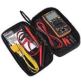 Multímetro digital de 9999 cuentas, pantalla LCD de alcance automático/manual, multímetro de bolsillo para voltaje AC CC, corriente CC, resistencia, continuidad, diodos, transistor, etc