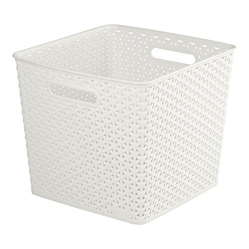 Curver My Style 196862 Storage Box Rattan Effect Large 25L Cream